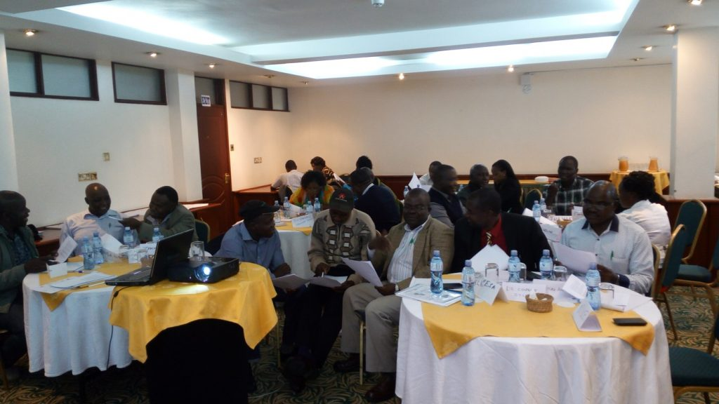 Representatives of agrodealers associations taking part in group discussion during Business Advocacy Training