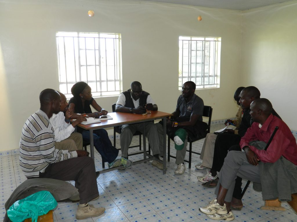 Foccus group discussion with community based ranchers who have begun the trading stock program in Mara