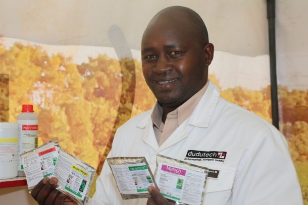 barnaba-rotich-the-commercial-and-operations-manager-dudutech-displays-the-products-launched