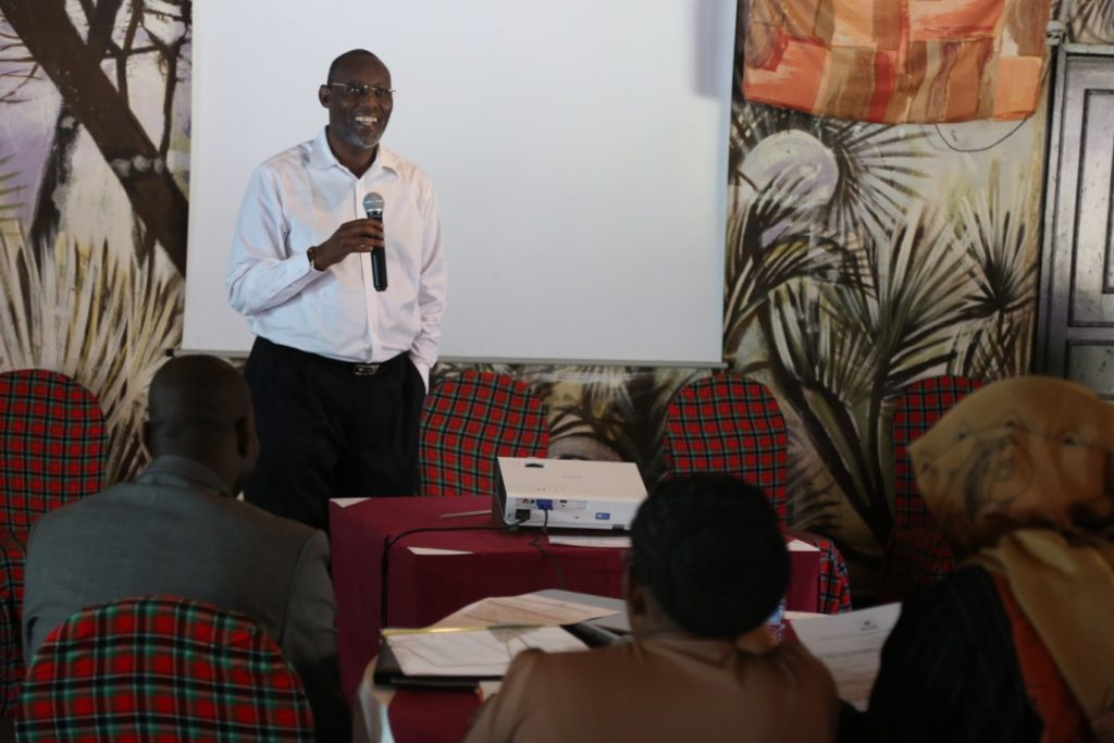 """Kenya Markets Trust Director of Portfolio, Ali Hassan, at the """"Addressing governance and sustainability of rural water management"""" conference in Isiolo"""