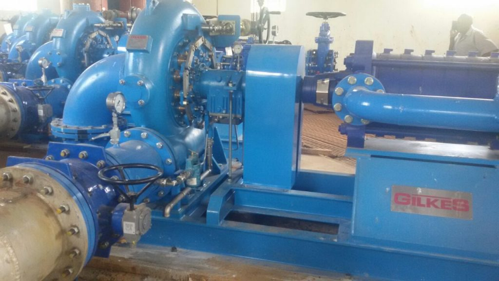 Newly installed water pumps at Siaya-Bondo Water company treatment works