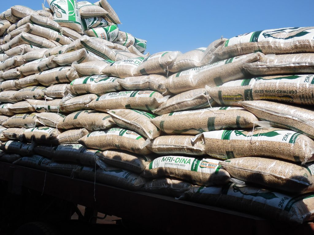 Seeds transported by a private distributor from a private seed company in Zambia. Private sector in the country is incentivised to invest in agribusiness