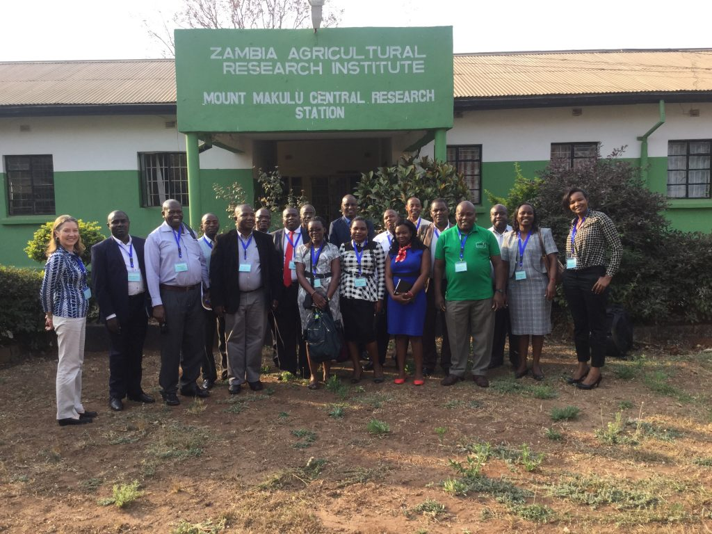 Kenyan delegation at Zambia Agriculture Research Institute, ZARI. The delegation sought to lean how agricultural development has been achieved in the country