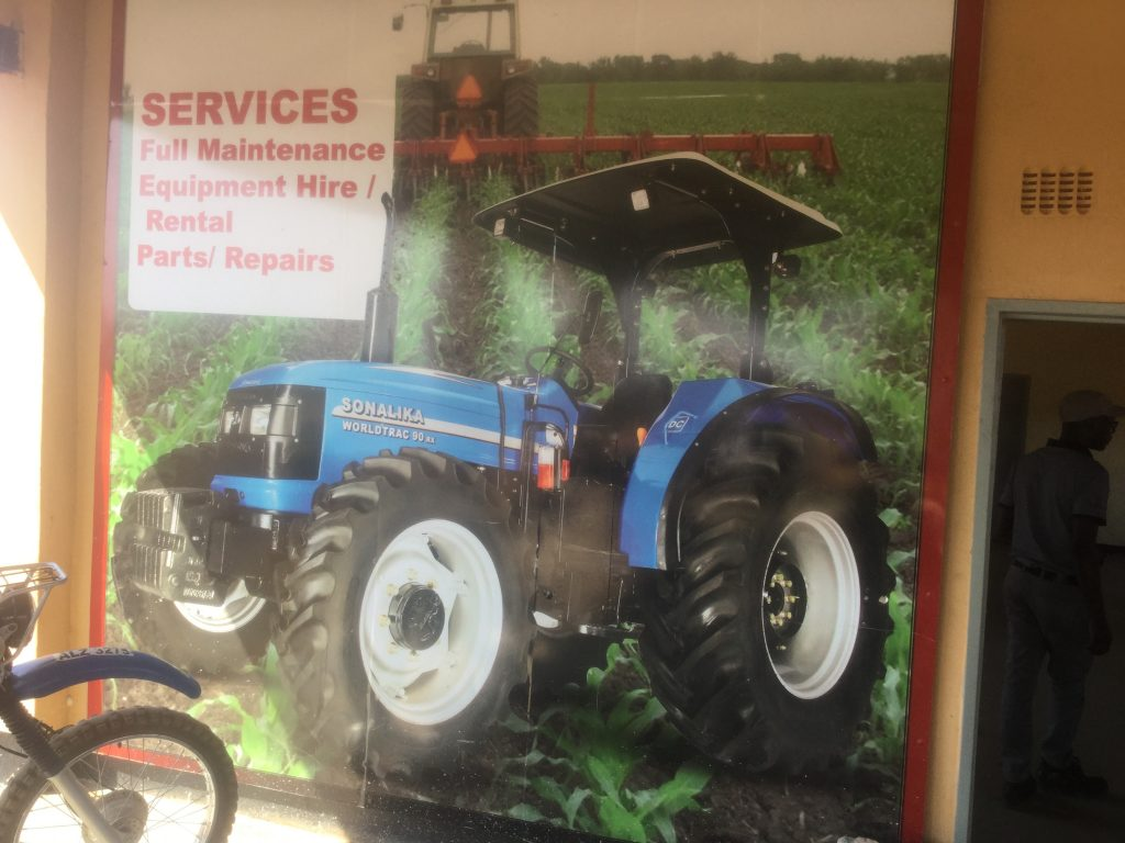 Keegy service center in Mpongwe Zambia. Keegy is an agricultural mechanization firm that has helped farmers in Zambia access relevant technology and commercialized farming techniques
