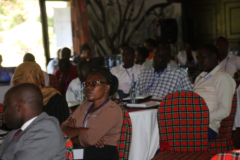"Stakeholders at the ""Addressing governance and sustainability of rural water management"" conference in Isiolo"
