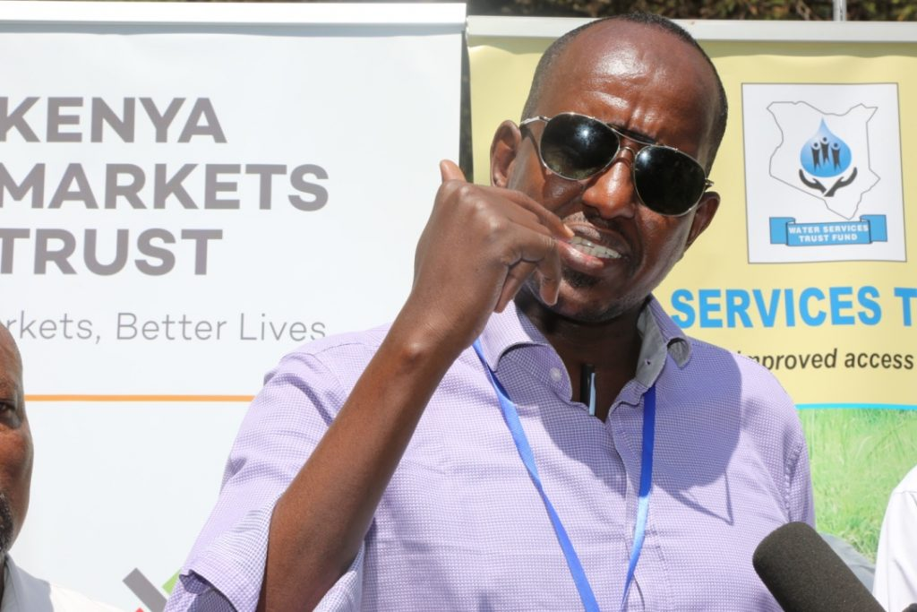 Ishmael Shaiye, Chief Executive Officer for the Water Services Trust Fund (WSTF) during the Isiolo Water Conference