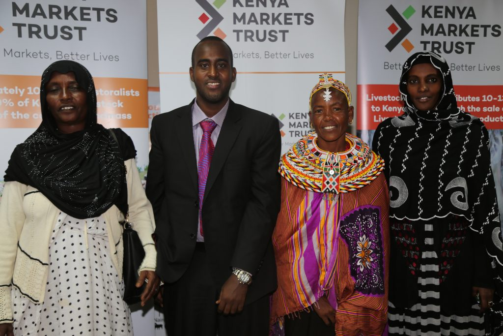 KMT Livestock Sector Lead, Abdikarim Daud, with the officials of the Tosha Women Group from Marsabit. KMT will support the women traders in aggregating livestock to access terminal markets.