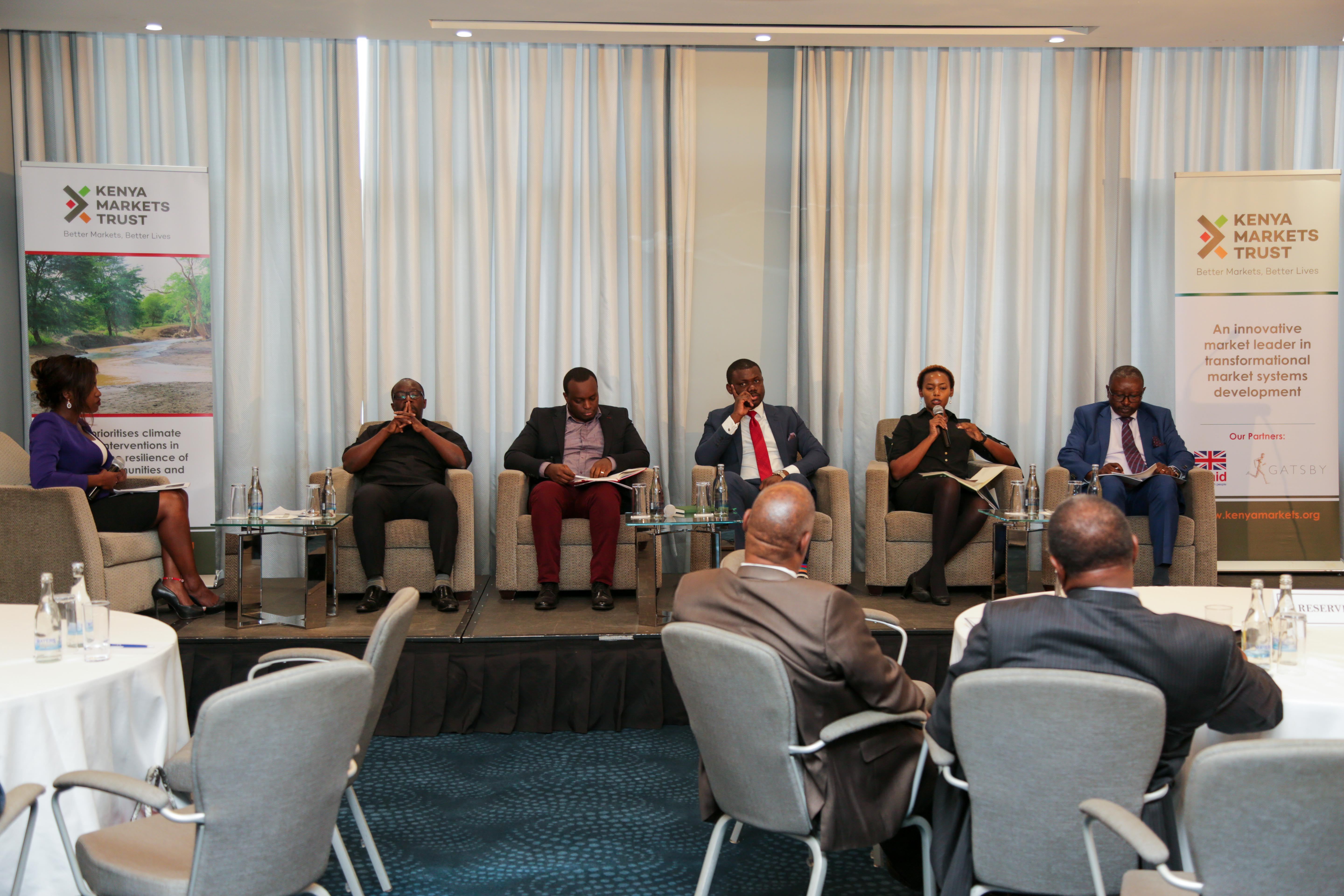 A panel of experts discuss the findings of the synthesis report during the dissemination workshop in Nairobi
